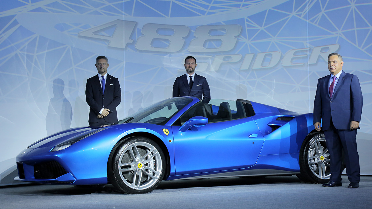 "Ferrari® – Introduction of the ""Ferrari 488 Spider""3D Mapping Factory"
