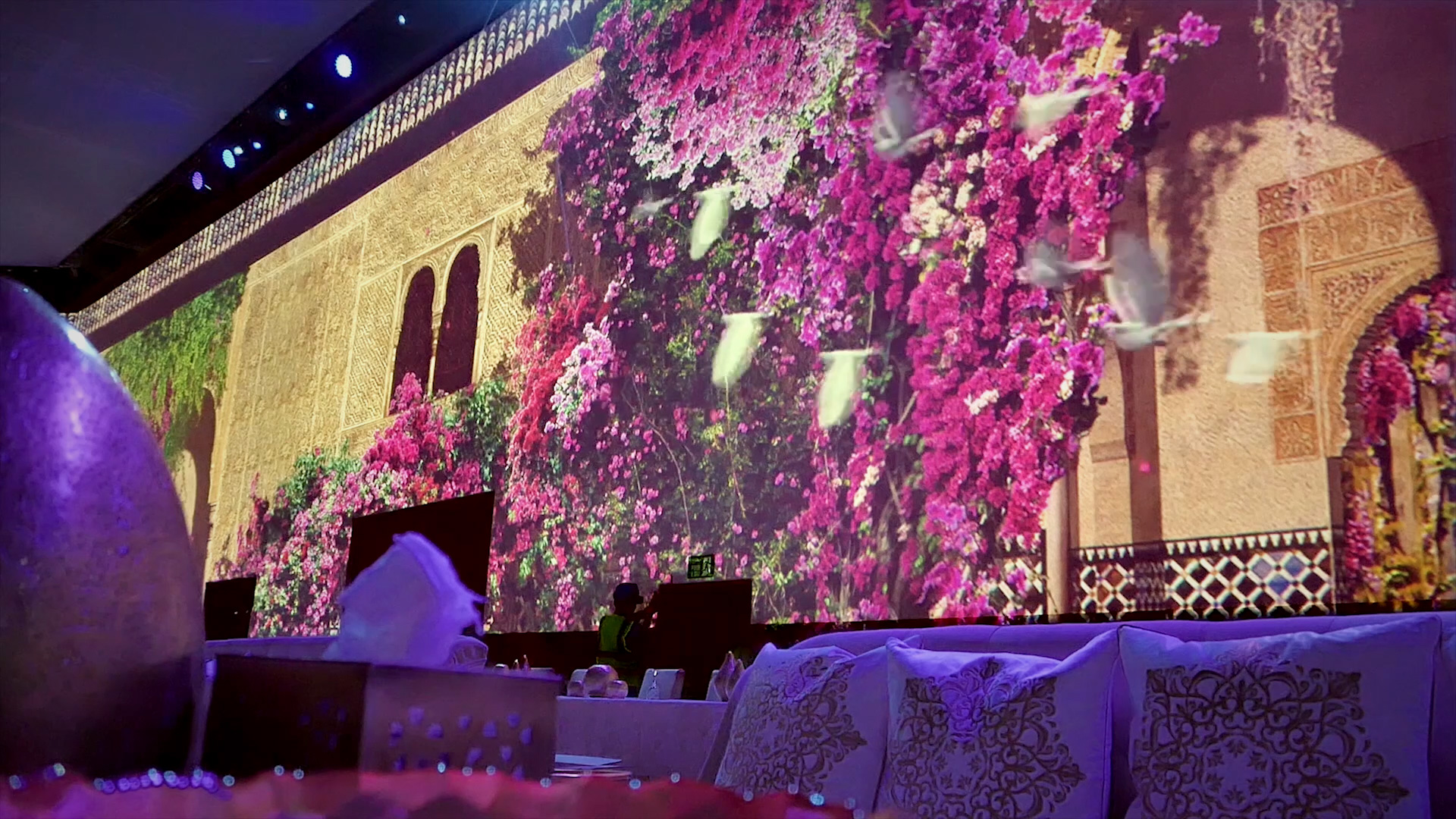 1001 Nights Royal Wedding 360° video mapping 3D Mapping Factory